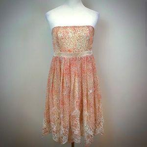 Anthropologie Ryu Dreamy Floral Strapless Dress